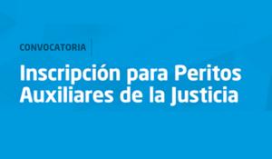 LLAMADO A INSCRIPCIÓN DE PERITOS AUXILIARES DE LA JUSTICIA EN LA PROVINCIA DE BUENOS AIRES DURANTE MES DE SEPTIEMBRE